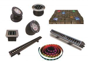 چراغ-های-دفنی،-نواری،-والواشر،-زانویی-و-Stone-Light-